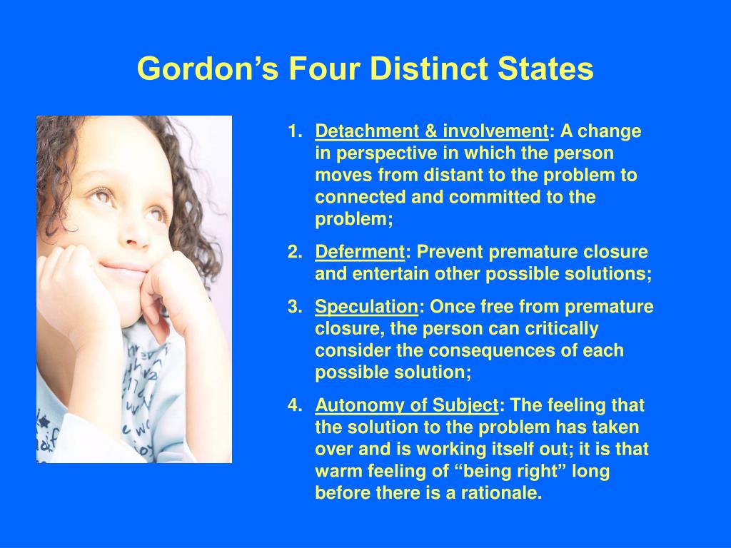 Gordon's Four Distinct States