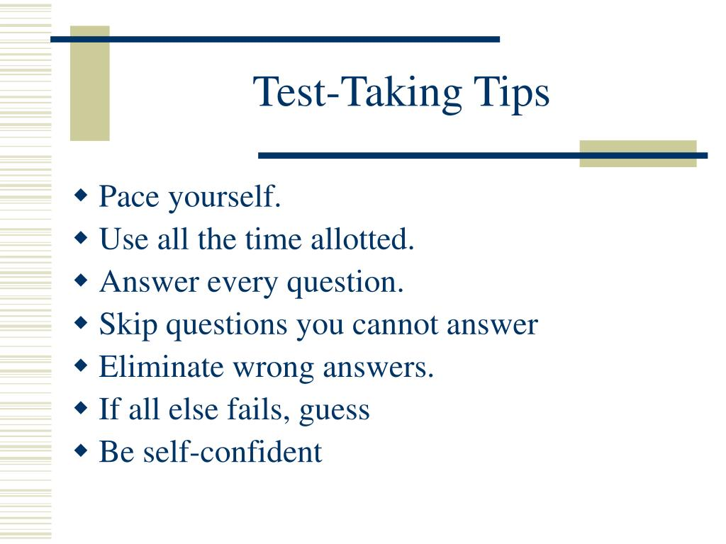 Test-Taking Tips