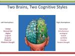 two brains two cognitive styles