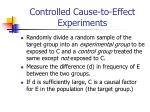 controlled cause to effect experiments