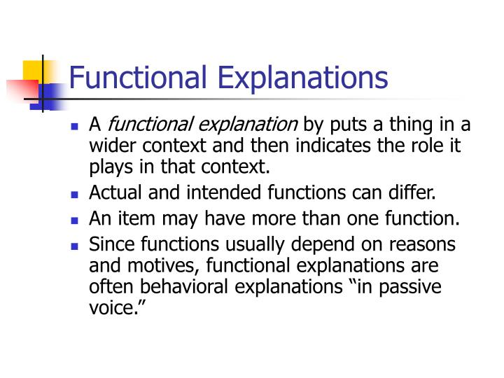 Functional Explanations