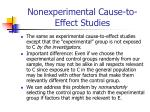 nonexperimental cause to effect studies