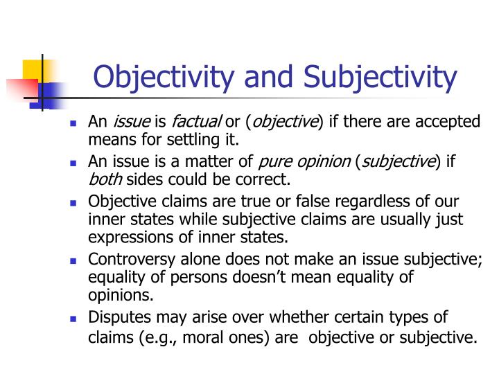 meaning of objective essay