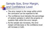 sample size error margin and confidence level