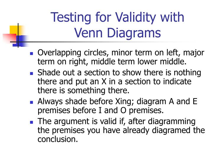 Testing for Validity with