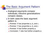 the basic argument pattern