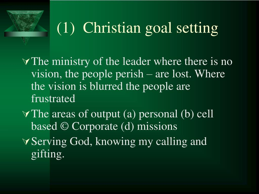 (1)  Christian goal setting