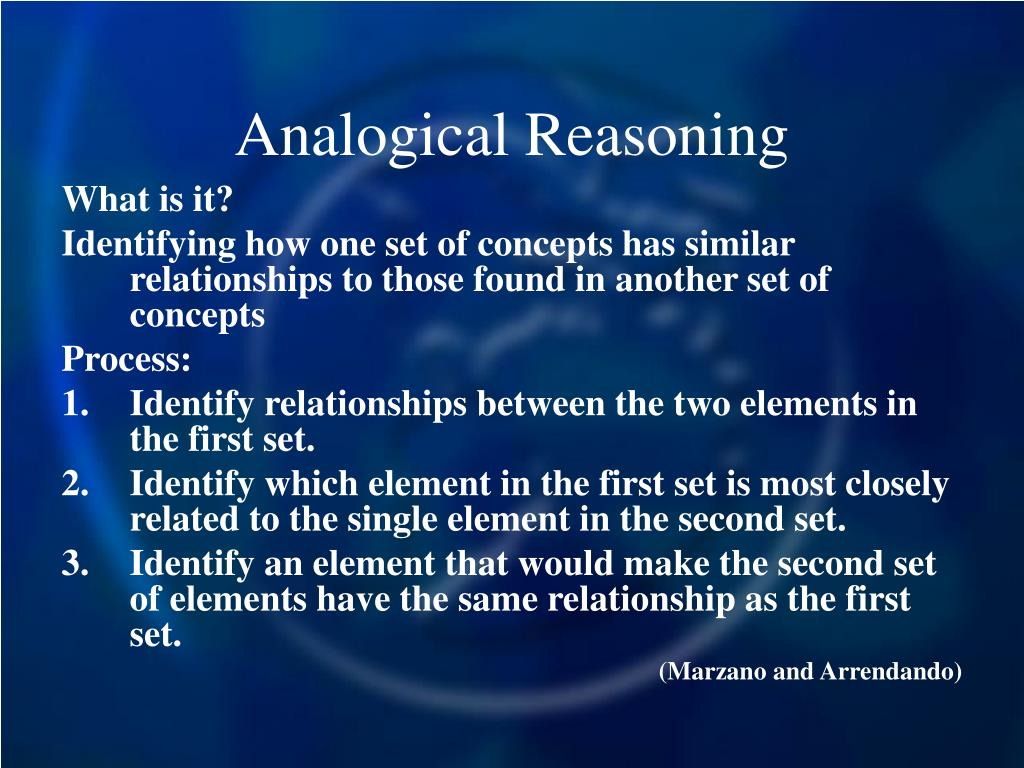 Analogical Reasoning