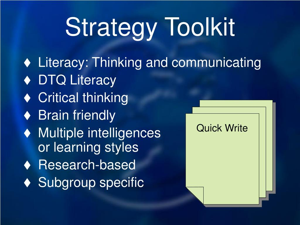 Strategy Toolkit