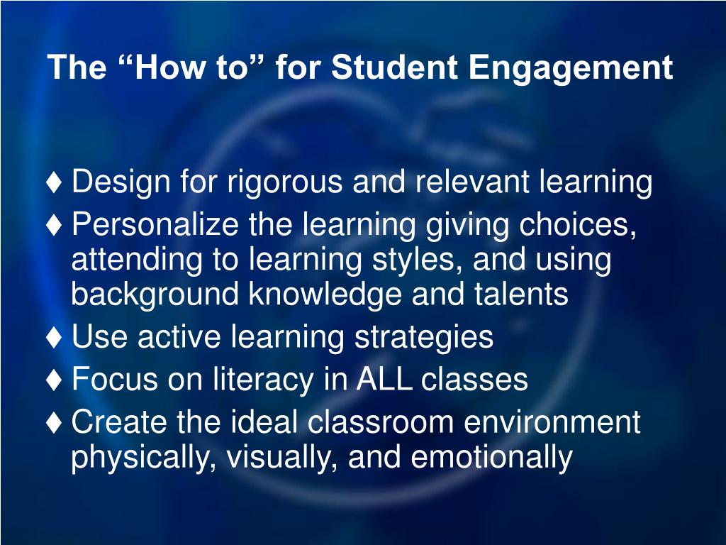 "The ""How to"" for Student Engagement"