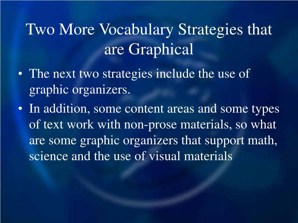 Two More Vocabulary Strategies that are Graphical