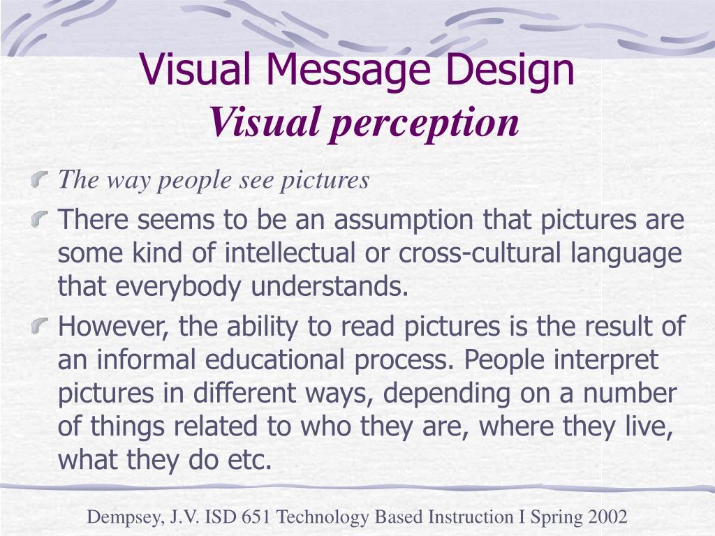 Visual Message Design