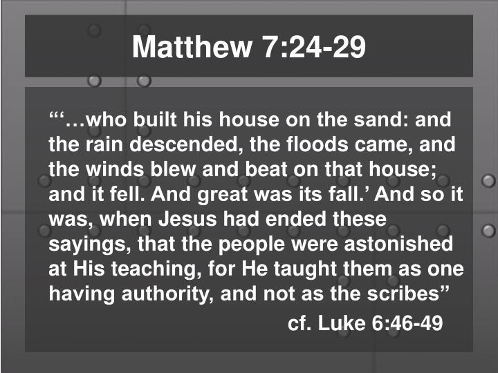 Matthew 7:24-29
