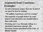 argument from consensus examples