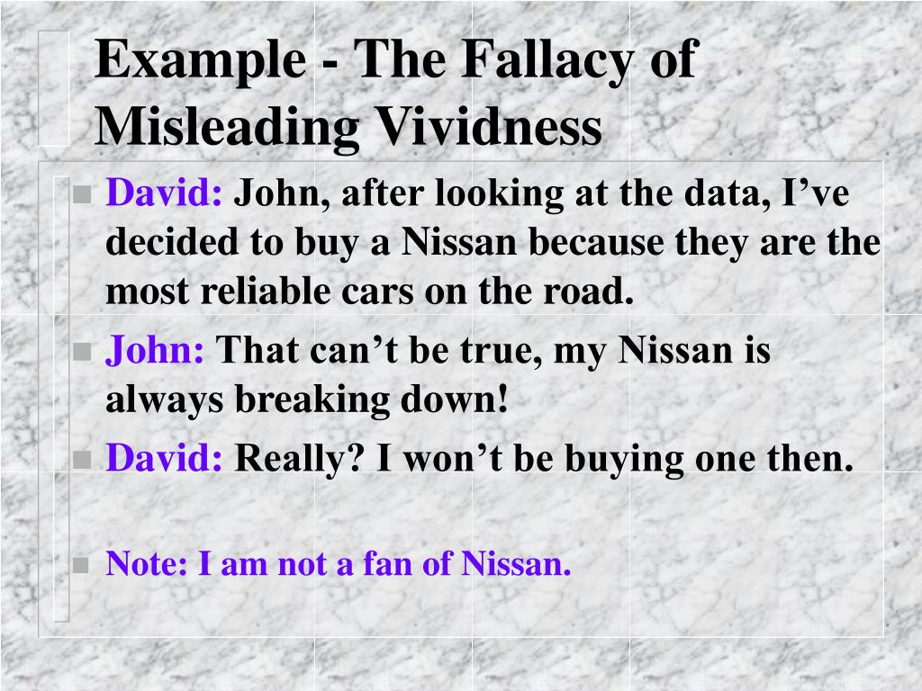 Example - The Fallacy of