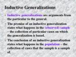 inductive generalizations