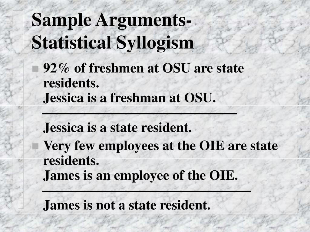 Sample Arguments-
