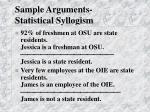 sample arguments statistical syllogism