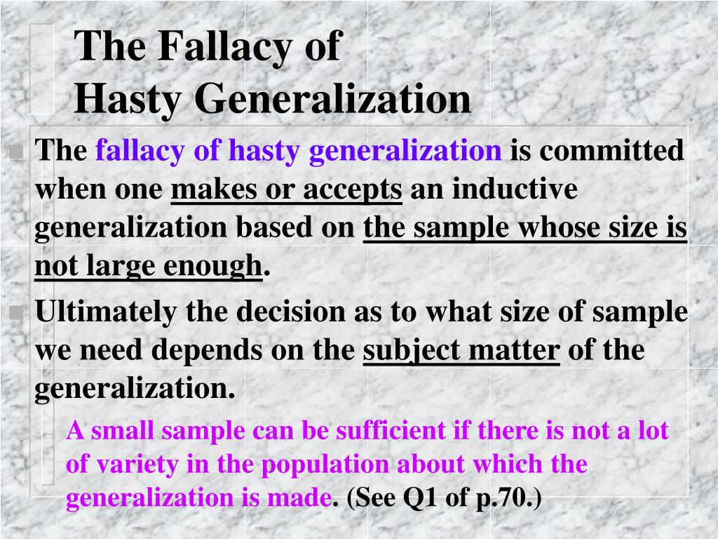The Fallacy of