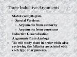 three inductive arguments