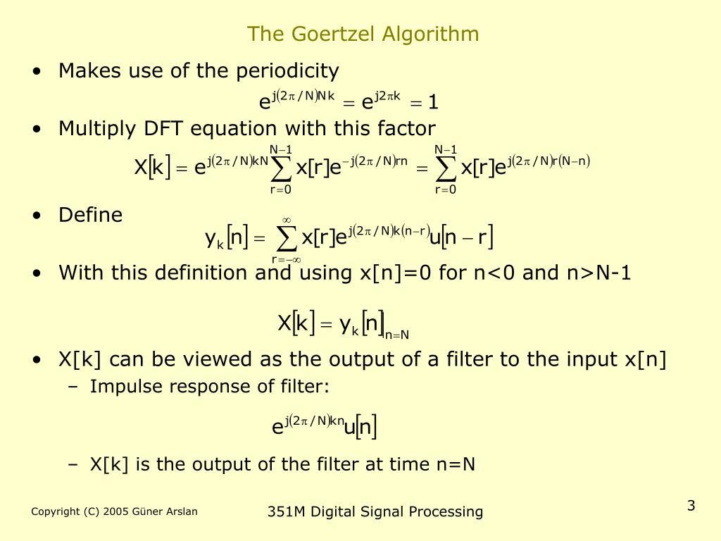 The Goertzel Algorithm