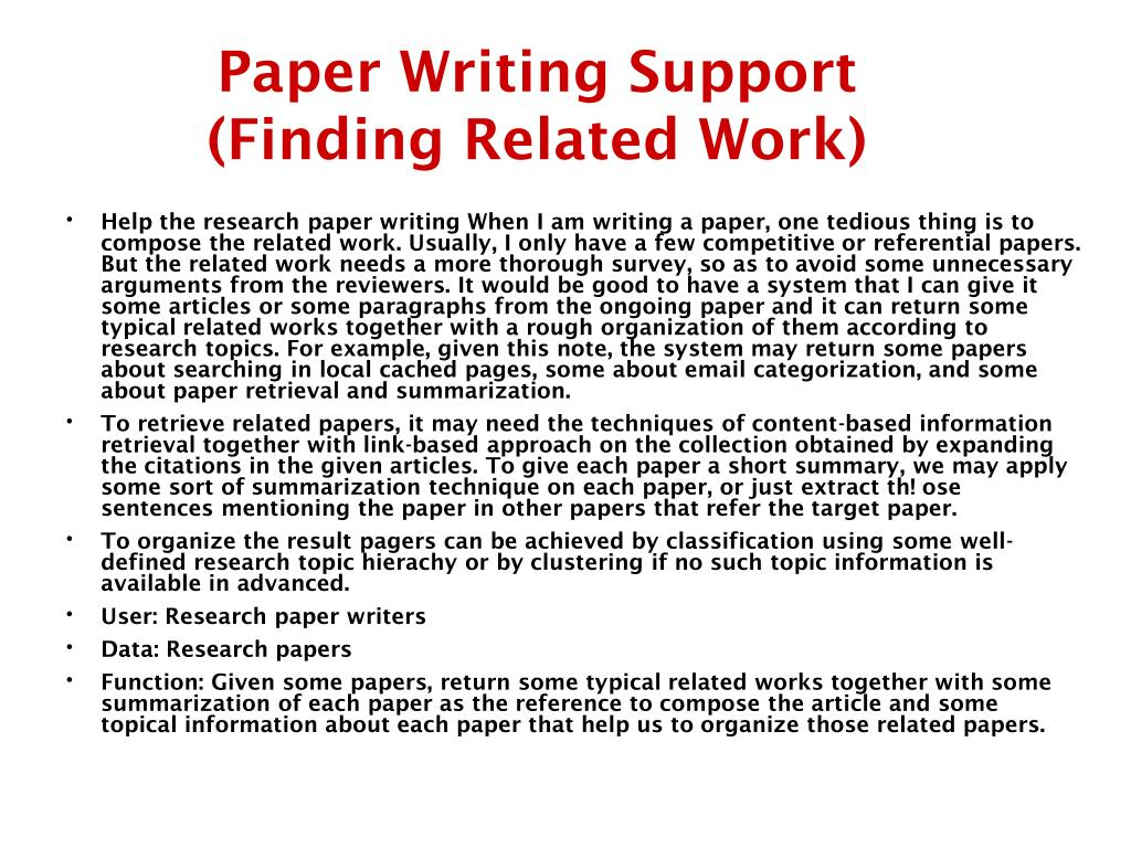 Paper Writing Support