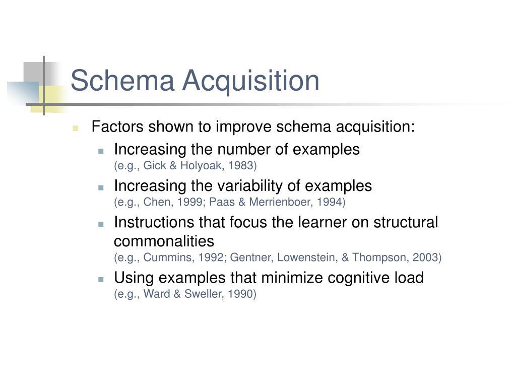 Schema Acquisition