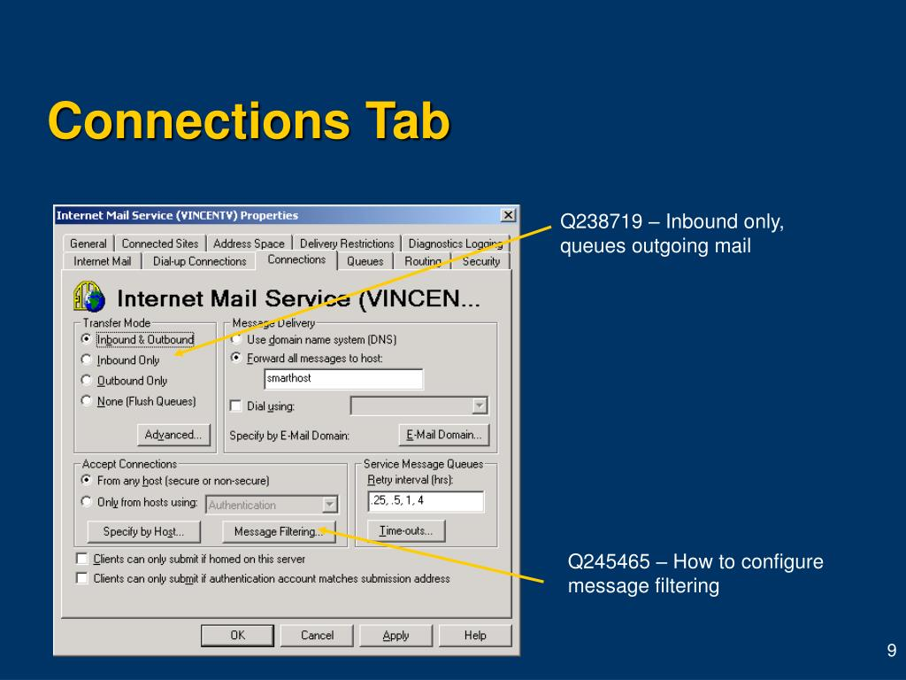 Connections Tab