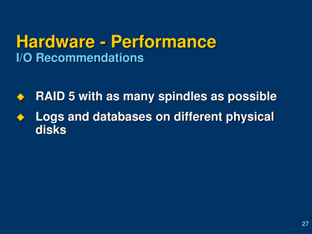 Hardware - Performance