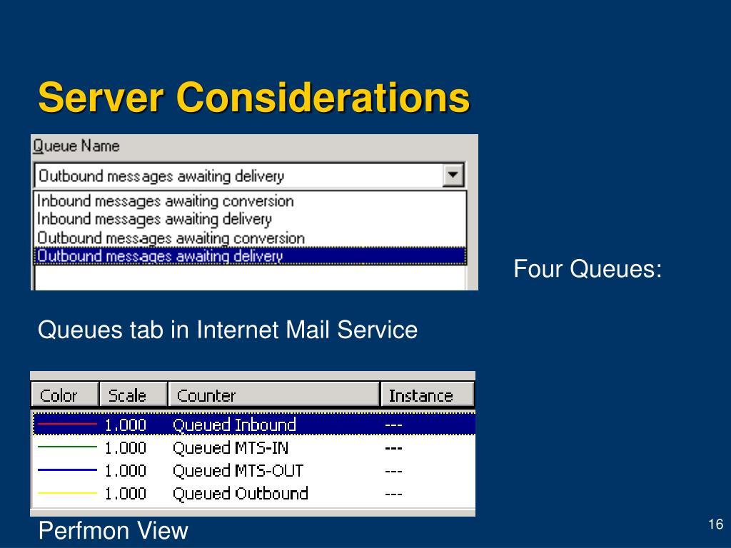 Server Considerations