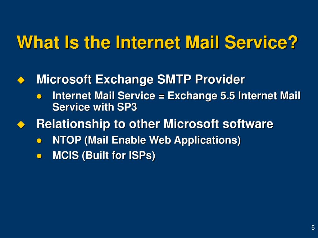 What Is the Internet Mail Service?