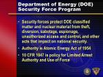 department of energy doe security force program