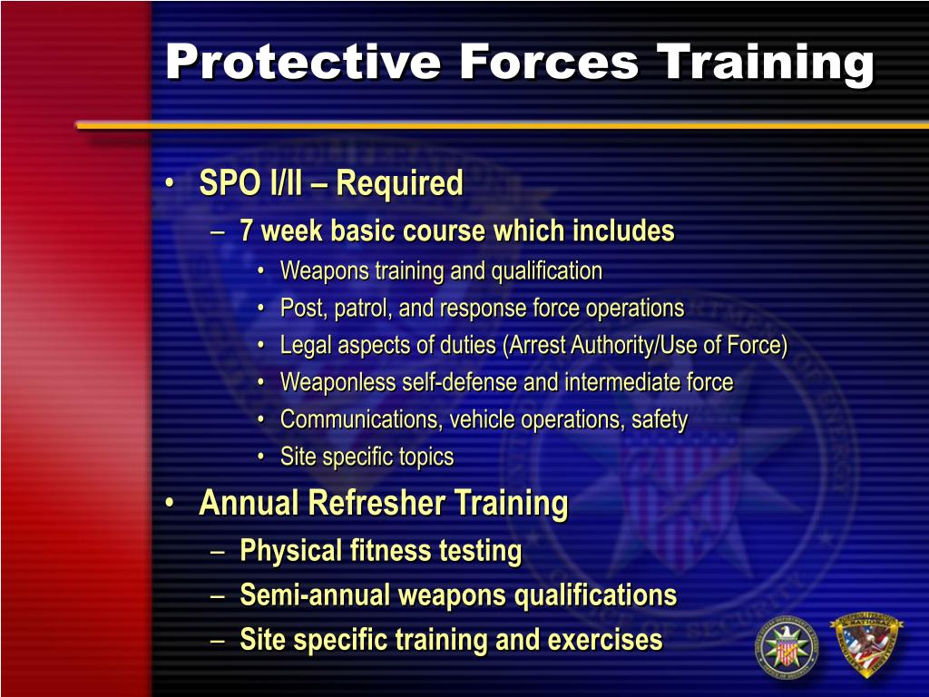 Protective Forces Training