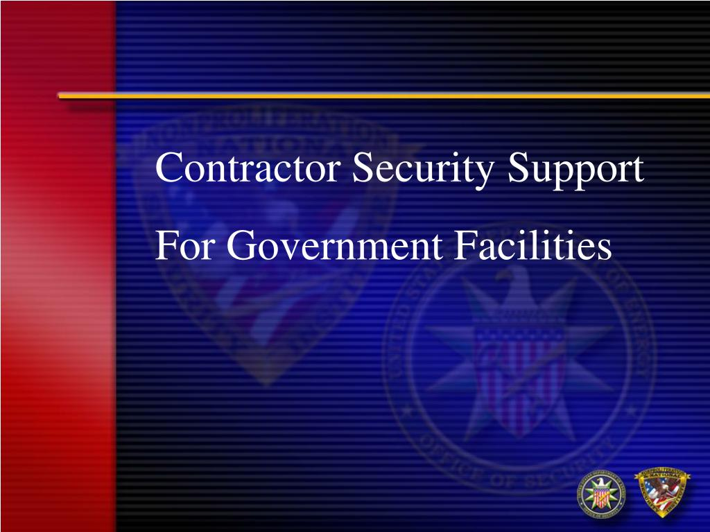 Contractor Security Support