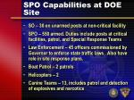 spo capabilities at doe site