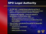 spo legal authority