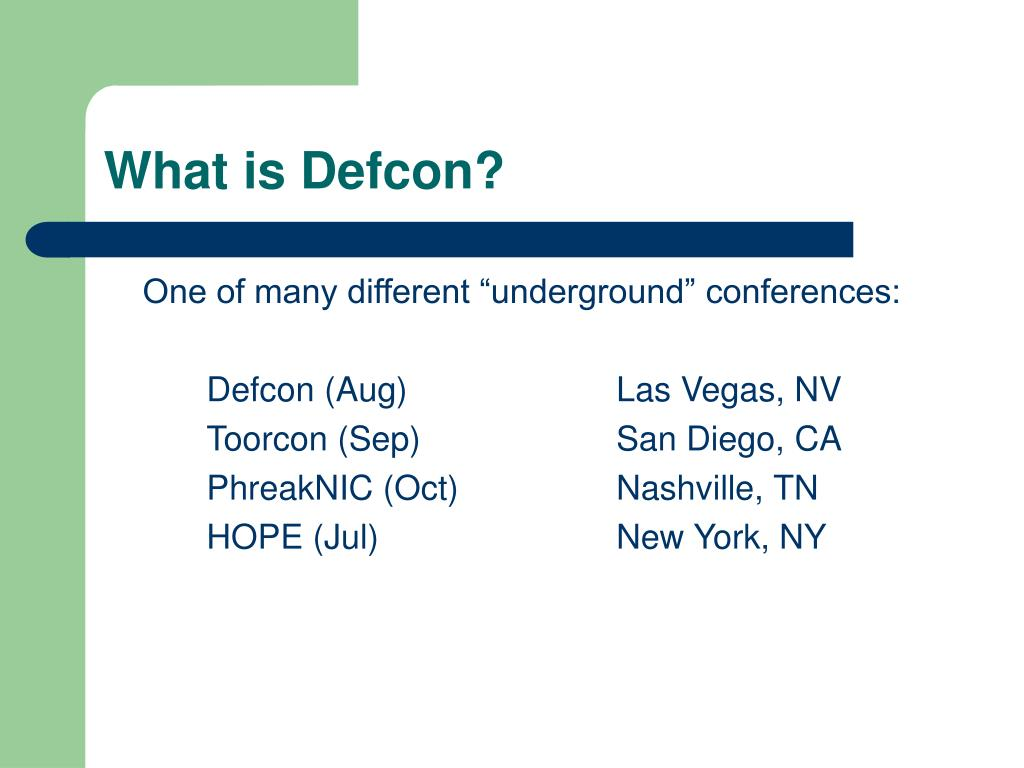 What is Defcon?
