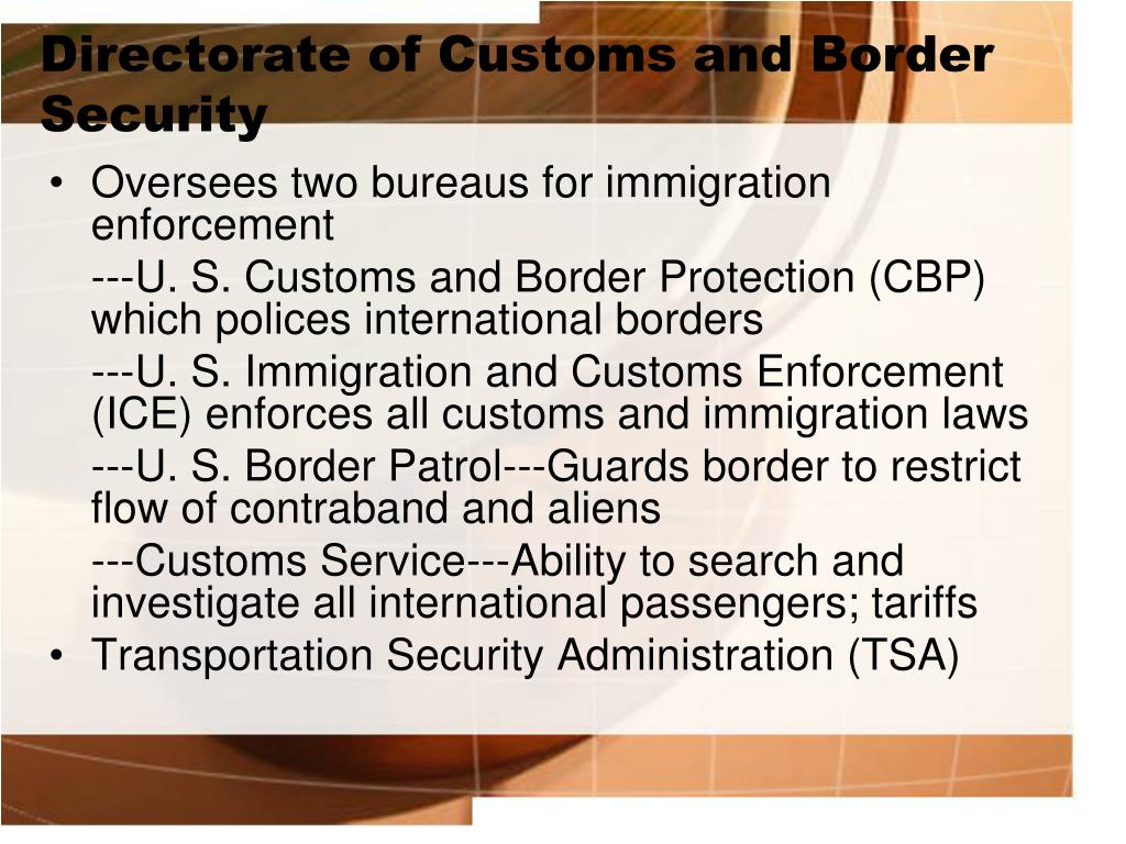 Directorate of Customs and Border Security