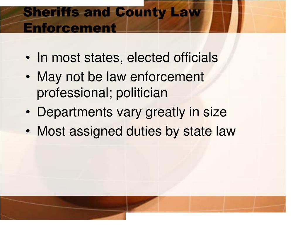 Sheriffs and County Law Enforcement