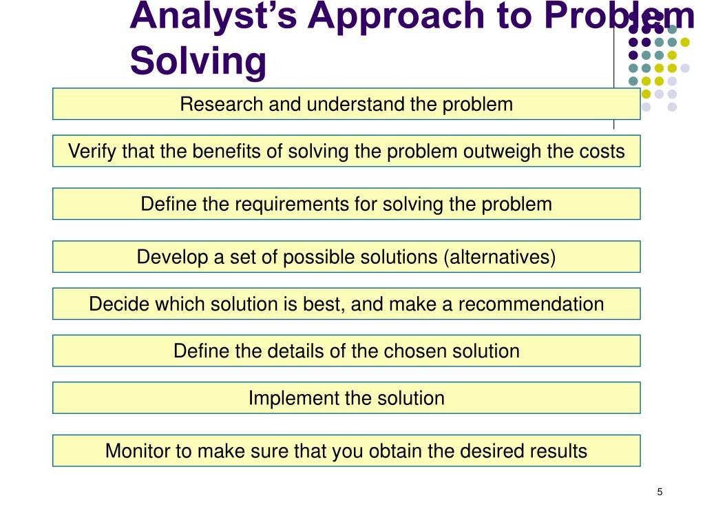 Analyst's Approach to Problem Solving