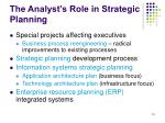 the analyst s role in strategic planning