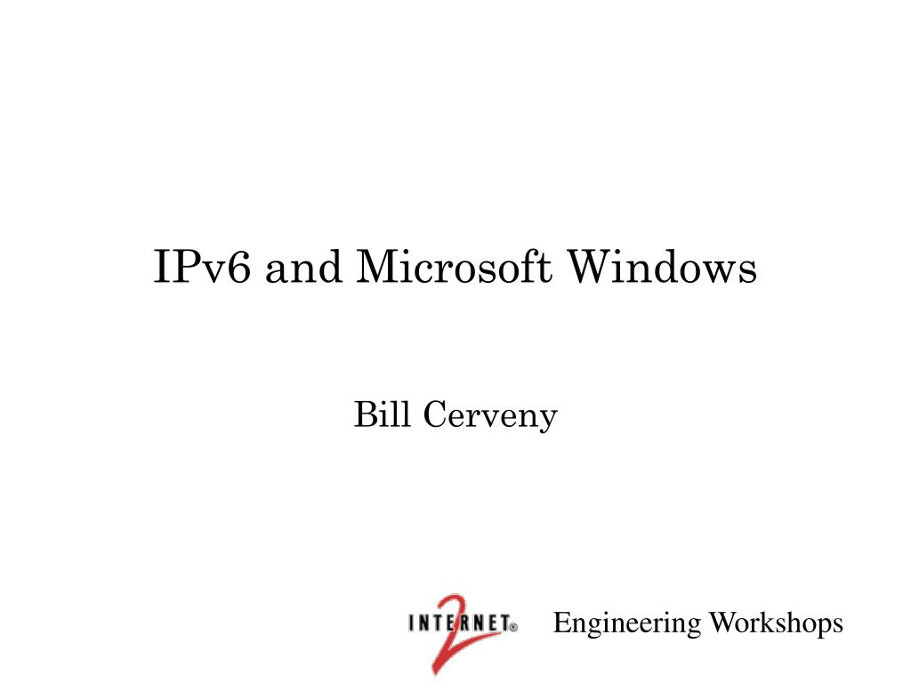 IPv6 and Microsoft Windows