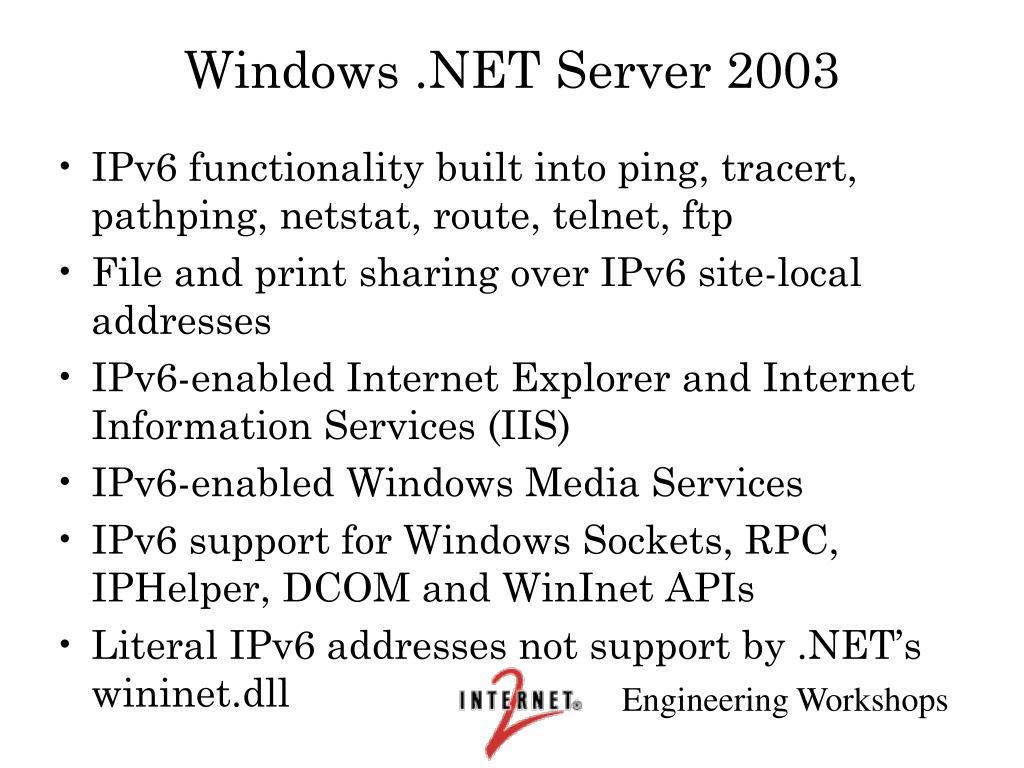Windows .NET Server 2003