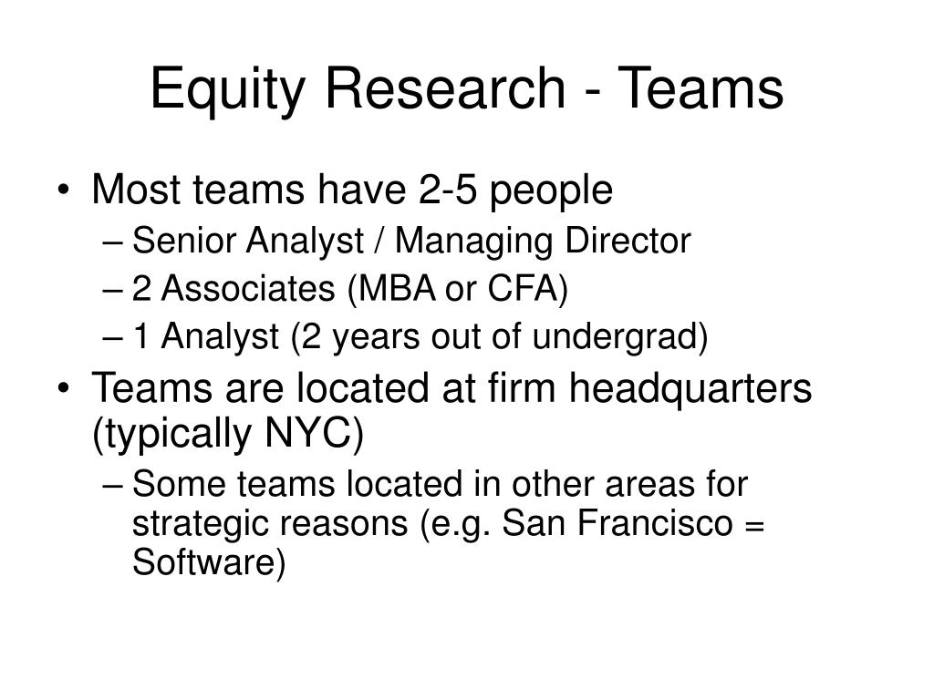 Equity Research - Teams