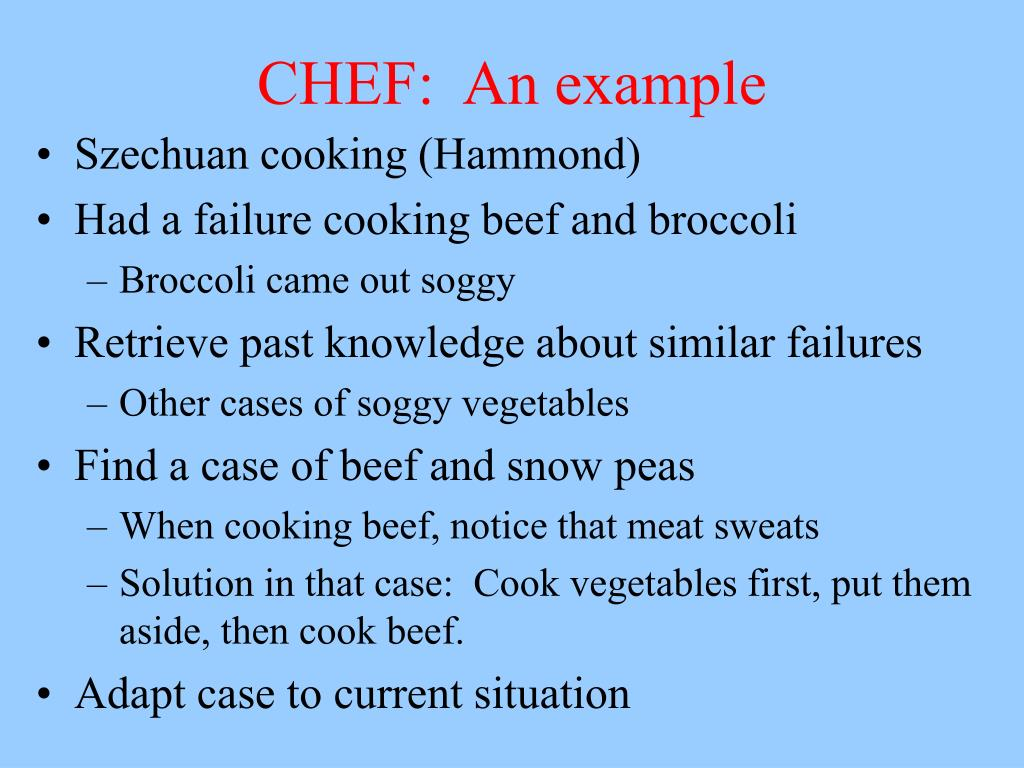 CHEF:  An example