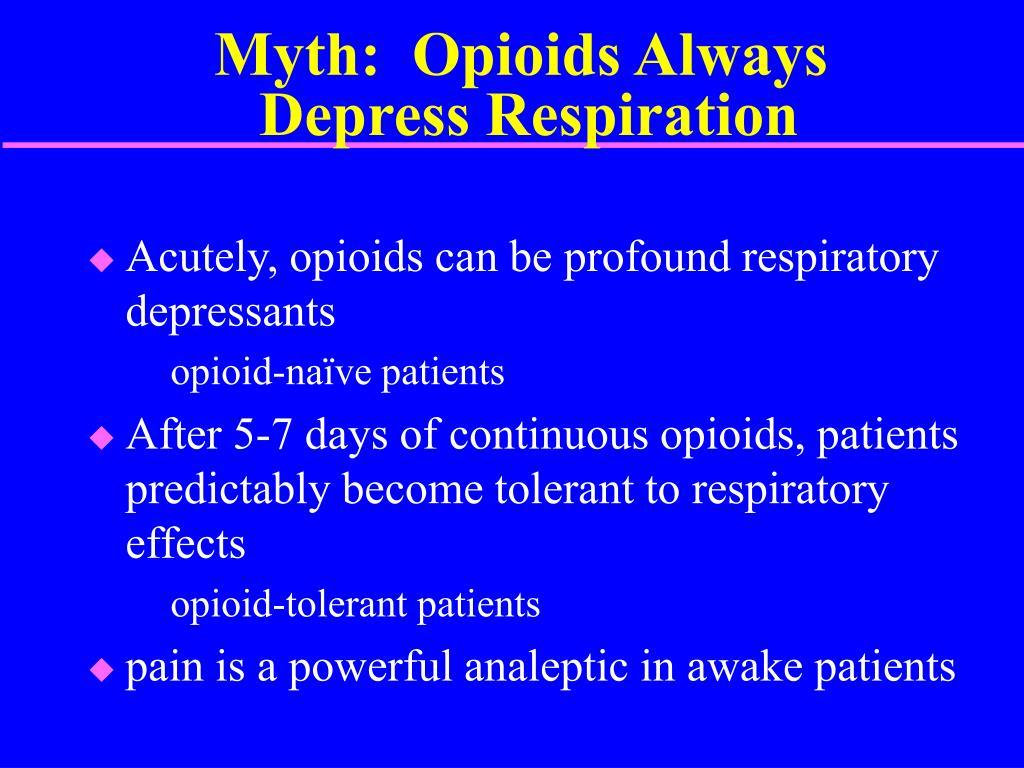 Myth:  Opioids Always