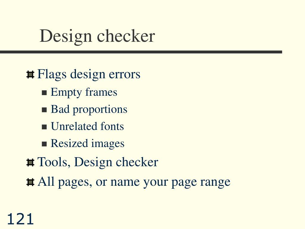 Design checker