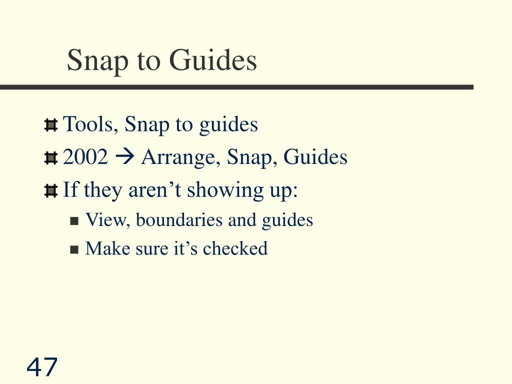 Snap to Guides