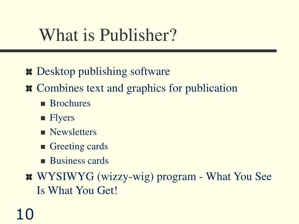 What is Publisher?