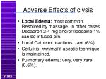 adverse effects of clysis